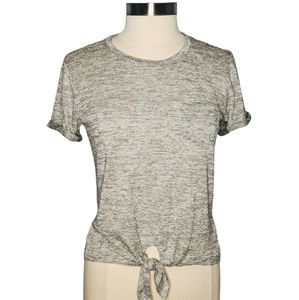 J Crew Factory Space Dyed Tie Front Tee